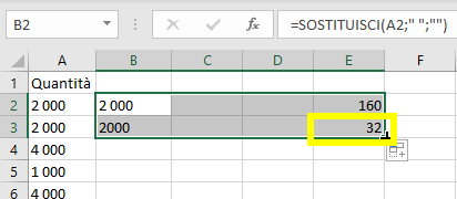 codice carattere in excel